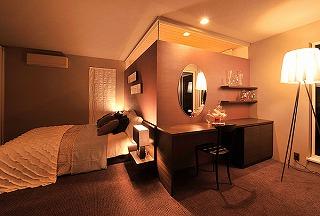自宅ベッドルームの照明