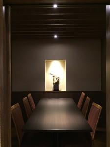 ルーバー個室飾り棚