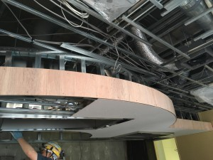 カウンター天井